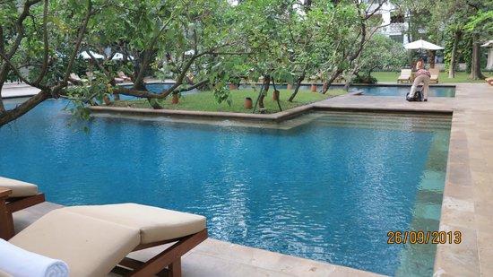 The Dharmawangsa Jakarta: View of the gorgeous pool area