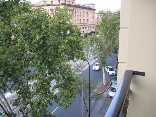 The Playford - MGallery by Sofitel: looking up the street toward railway station and casino.
