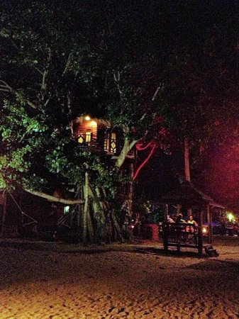 Charm Beach Resort: Treehouse by night