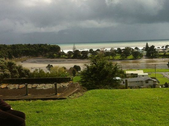 Mud Bay Cafe: The view over the urenui mudflats at the end of the road