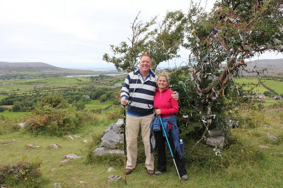 Burren Wild Tours: Making a wish at the fairy tree