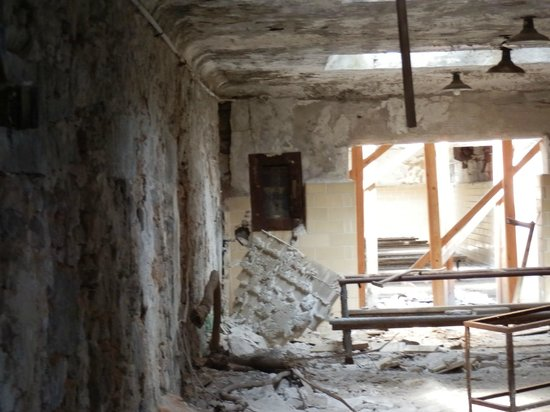 """Eastern State Penitentiary: Close up of area where three of us sensed """"activity"""""""