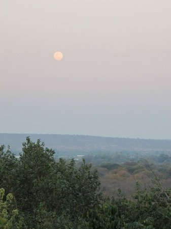 Elephant Hills Resort: Full moon view from the bar