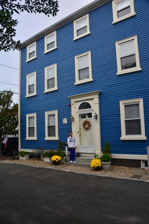 Northey Street House Bed and Breakfast: My wife at the front door...