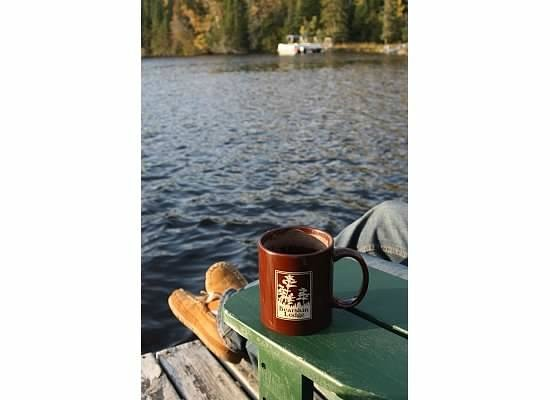 Bearskin Lodge: A cup of hot cocoa in the morning