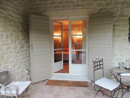 Le Mas des Etoiles : Terrace off the Bird's Room
