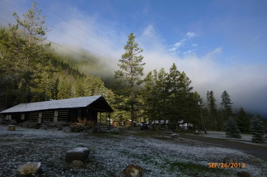 """Covered Wagon Ranch: """"Good Morning"""" at the CWR, our cabin"""