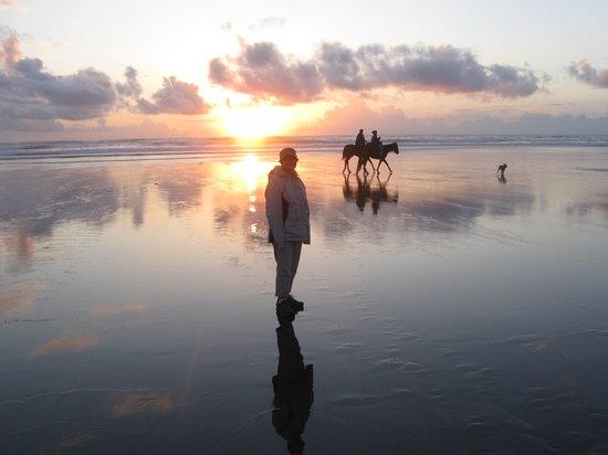 Sunset Surf Motel: beach at sunset