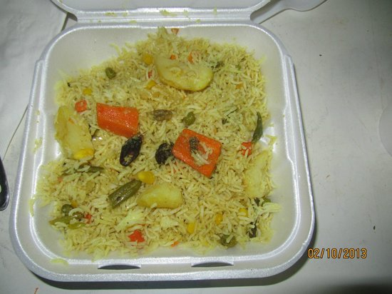 Vegetable Fried Rice Swagat Restaurant Concord Usa