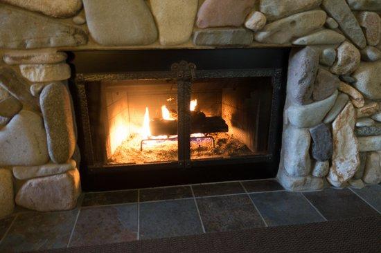 Freestone Inn : room fireplace