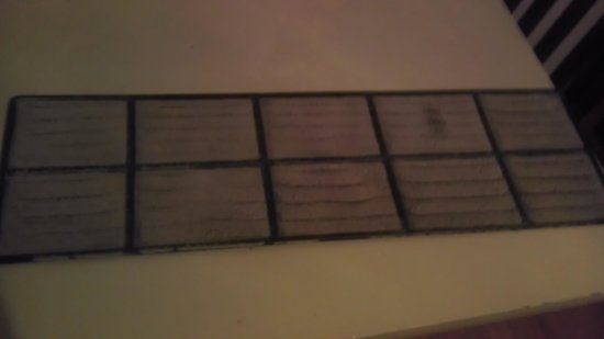 New Orleans/Harvey Extended Stay Hotel: Dirty filty AC filter