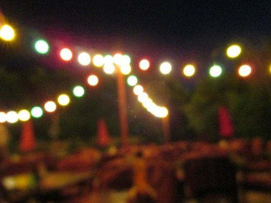 El Mirasol at Los Arboles: Festive outdoor lighting makes a great ambiance in the desert evening