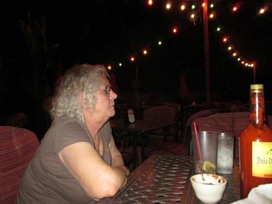 El Mirasol at Los Arboles: Enjoying a great meal under the stars and the banana/palm trees