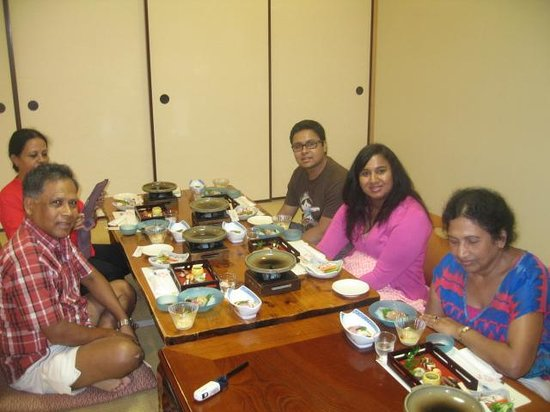 Kurama Onsen: 14 Course Dinner in our Hotel room