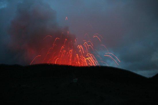 Mount Yasur by night