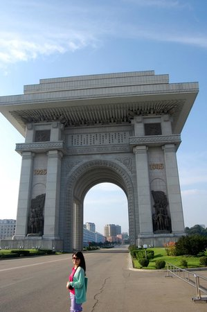 Triumphal Arch: The Arch looks colossal on a sunny day