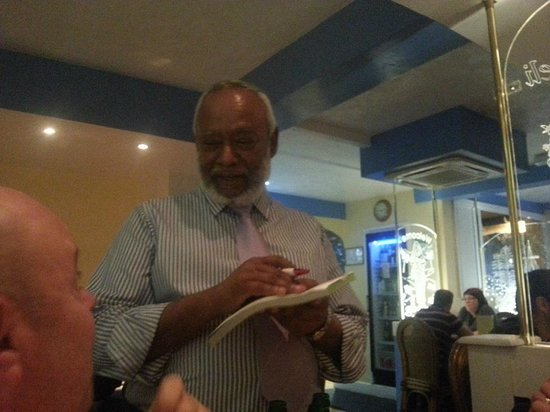 chameli tandoori: The owner talking us through some of the dishes