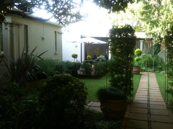 Murray Street 137 Guest House: Lovely garden with pool