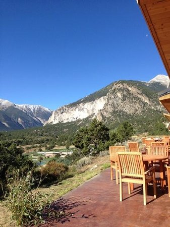 Mount Princeton Hot Springs Resort: view from cliff side room 15- wow!