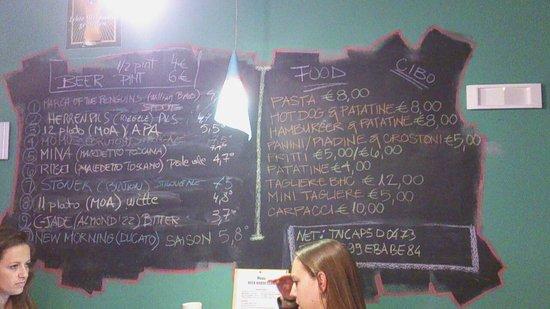 Beer House Club: beer menu