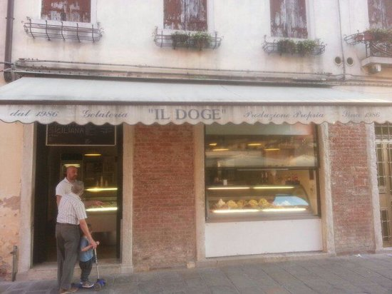 Gelateria il Doge: The owner in the shop.. Great gellato..