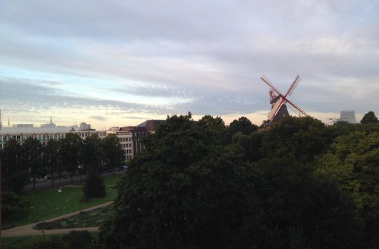 Swissôtel Bremen: view  of the mill from room 545