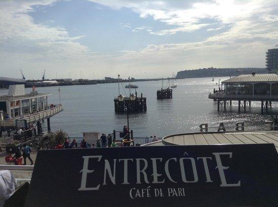 Entrecote Cafe de Paris: great location and view