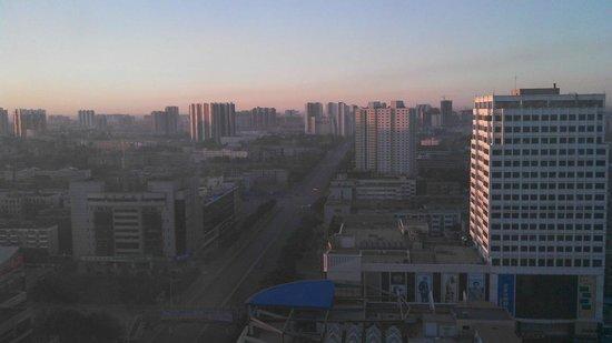 Zhong Yin Hotel: View south at sunrise from Zhongyin Hotel