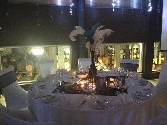 Kleine Zalze Lodge: Great Gatsby 21st celebration overlooking wine vats
