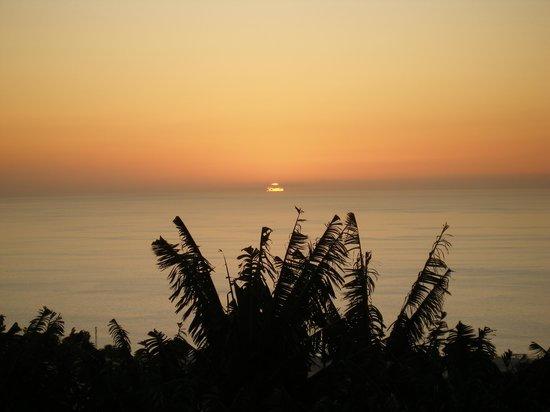 Las Norias : Abendblick von der Terrasse
