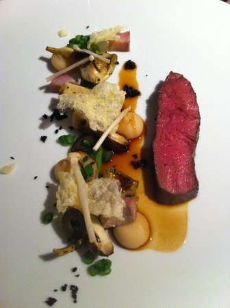 Showroom : 2nd main course was veal, different types of mushrooms and crispy parmasan