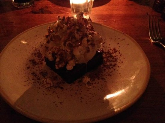 Jamie's Italian : my dessert of epic brownie, icecream and popcorn top