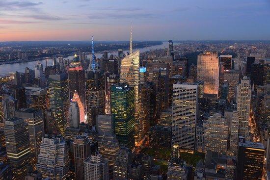 Empire State Building: Vue de nuit sur NYC