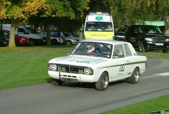 Prescott Speed Hill Climb: Lotus Cortina Mk 2.