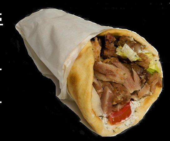 El Greco Lounge bar/Greek Restaurant : Pita Gyros (chicken or pork)