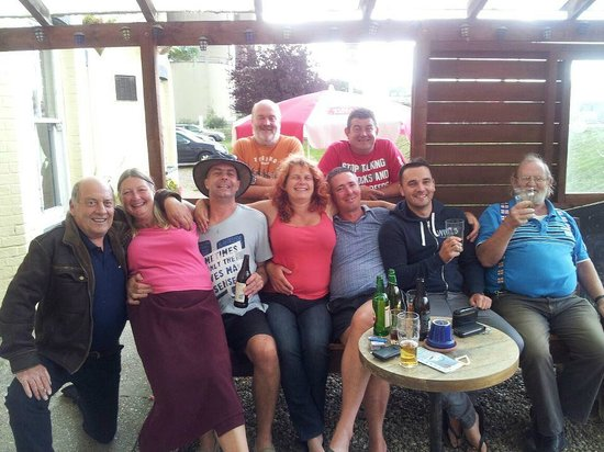 The Reedcutter Inn: Us and some friends at the 2012 beer festival