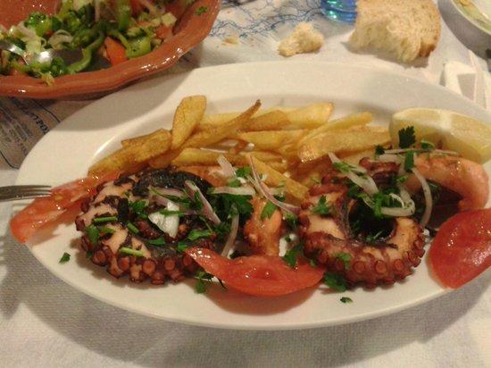 Restaurant Dimitris: polpo alla griglia