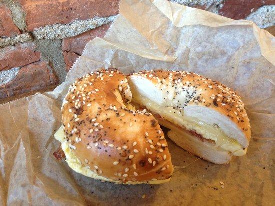 Pavement Coffeehouse: Sunrise bagel breakfast sandwich