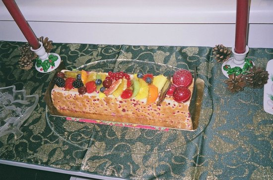 Atwater Market : Many layered fruit mousse at patisserie Premiere Moisson