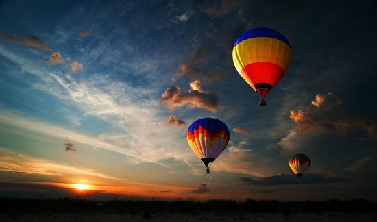 B&B La Luna: {Nearby possibility of reservations for balloon flight}