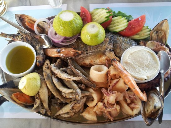 Kyano Beach Restaurant : Sea-food plate for two, only 36 Euros