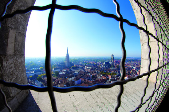 Bruges, Belgique : View from the Halletoren