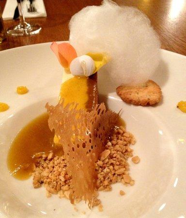 Goldie : 7 Frozen vanilla cake with apricot sauce