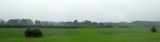 Standish, UK: Rainswept fields from room