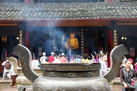 In Front of the Baoguo Temple in Mt. emei