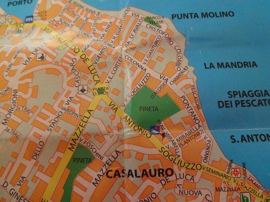 Hotel Villa Cecilia: на карте.там где крестик- отель