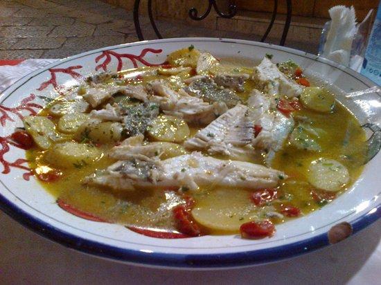 Tana del Lupo : Pesce San Pietro in guazzetto