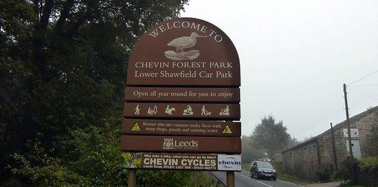 Chevin Forest Park: Park Sign