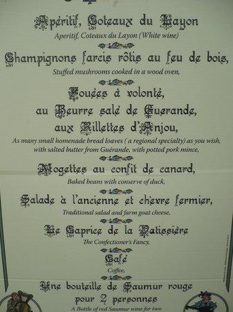 Le menu photo de la grange d me montreuil bellay tripadvisor - La grange a dime montreuil bellay ...
