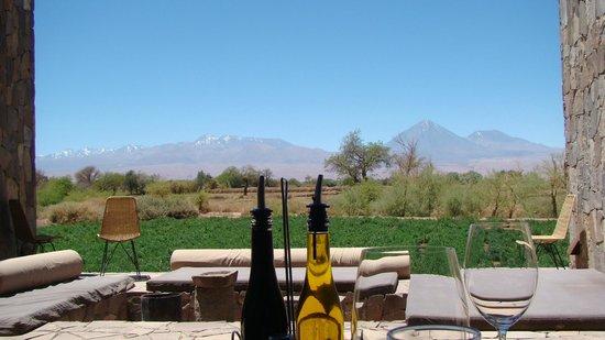 Tierra Atacama Hotel & Spa: PAISAGEM VISTA DO RESTAURANTE AO AR LIVRE